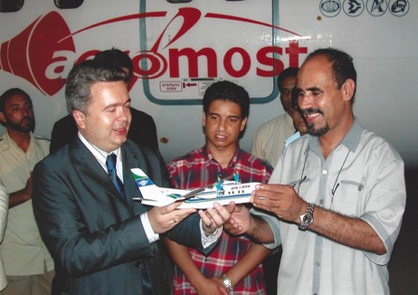 23 1 НПО и Air Libya Tibesti Mr.Mohammed Al-Mukhtar Abusaif в Триполи июнь 2003